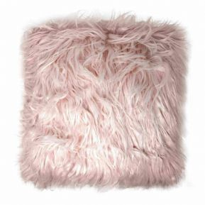 "BLUSH PINK SOFT MONGOLIAN FUR EFFECT SUEDE BACK  18"" CUSHION COVER £5.95 EACH"